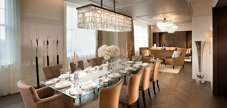 Project 4 Connaught Place, Marble Arch Flairlight Designs Ltd Dining roomLighting