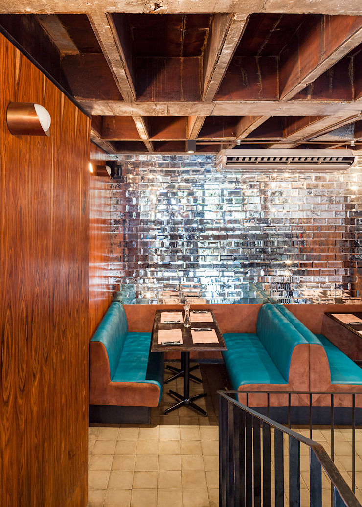 Mezanino Espaços gastronômicos modernos por MM18 Arquitetura Moderno