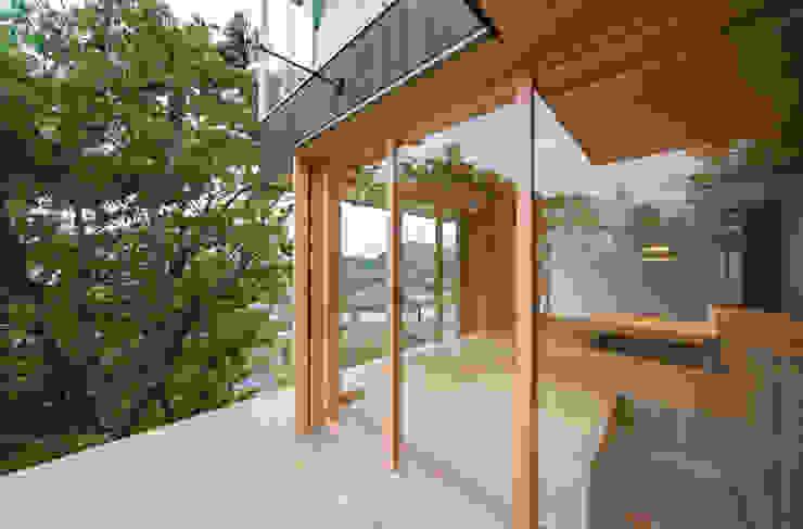 Tei 縁側 和風デザインの テラス の キリコ設計事務所 和風