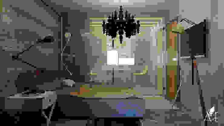 Проект интерьера квартиры 60 м2 Спальня в стиле лофт от Apolonov Interiors Лофт