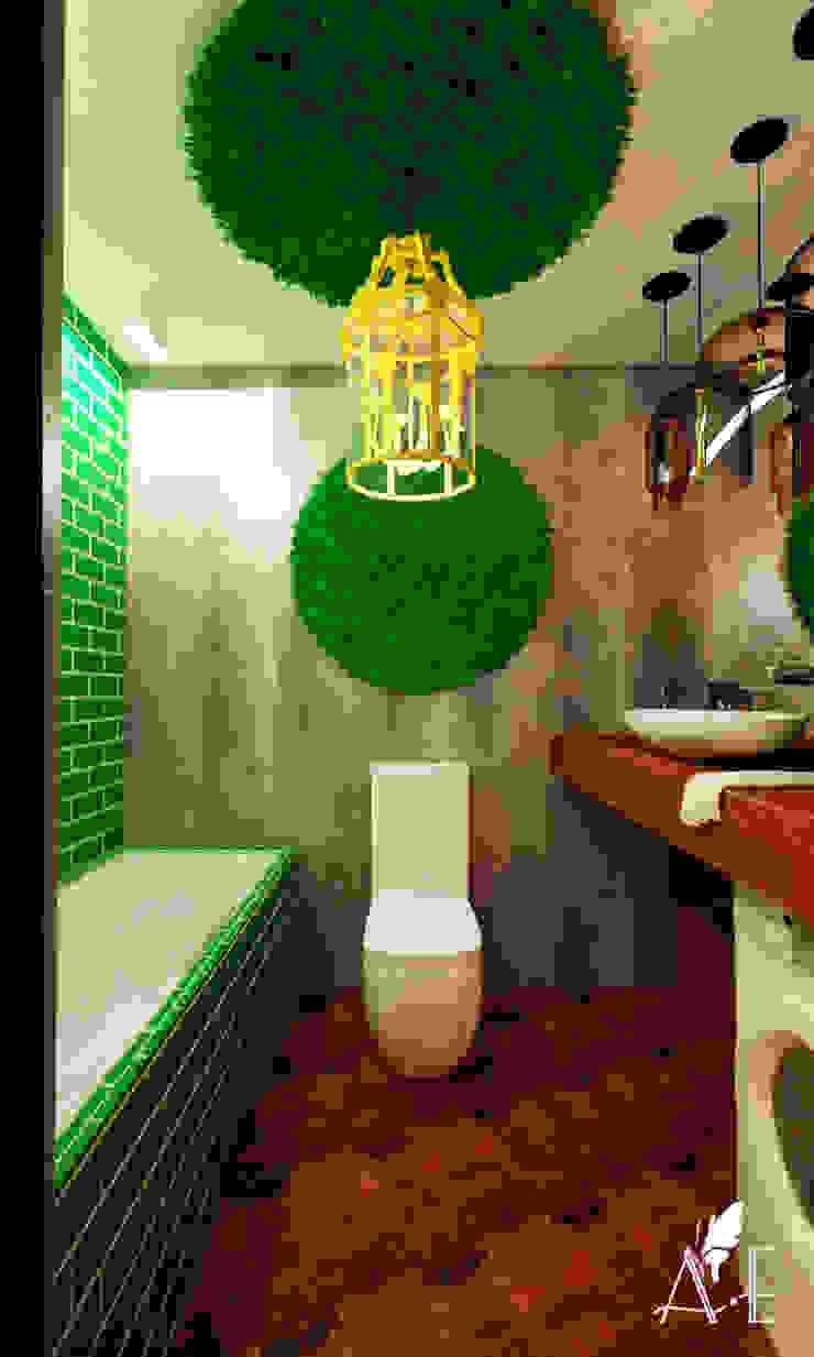 Проект интерьера квартиры 60 м2 Ванная в стиле лофт от Apolonov Interiors Лофт