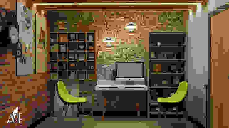 Проект интерьера квартиры 60 м2 Рабочий кабинет в стиле лофт от Apolonov Interiors Лофт