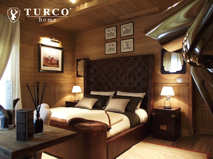 Rustic style bedroom by turco home srl Rustic
