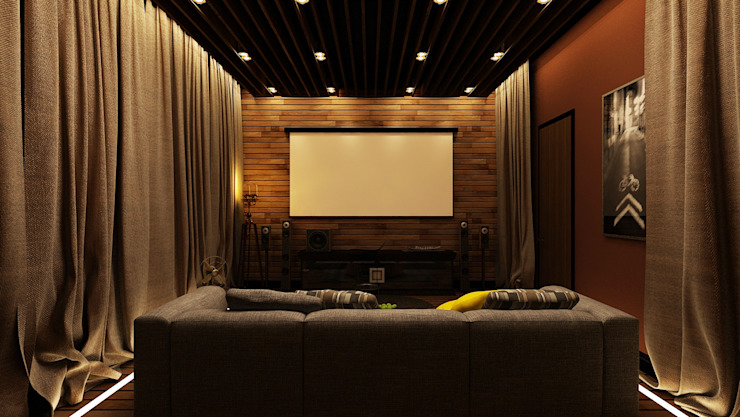 minimalist style media rooms by Apolonov Interiors Minimalist