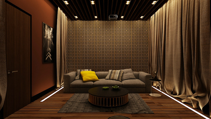 Minimalist media room by Apolonov Interiors Minimalist
