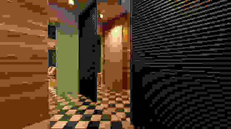 Дизайн проект квартиры 100 м2 Коридор, прихожая и лестница в эклектичном стиле от Apolonov Interiors Эклектичный