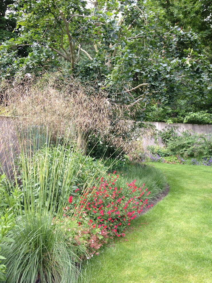 Naturalistic garden in Surrey カントリーな 庭 の Roeder Landscape Design Ltd カントリー