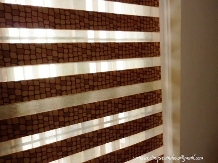Dual Shade Roller Blinds. Pebbles: asian  by Clinque window blind systems,Asian
