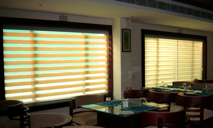 Dual Shade Roller Blinds. Slopes: asian  by Clinque window blind systems,Asian