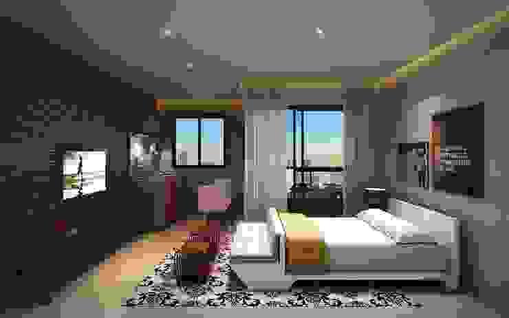 Interiores - Kitnet Salas de estar modernas por MM18 Arquitetura Moderno