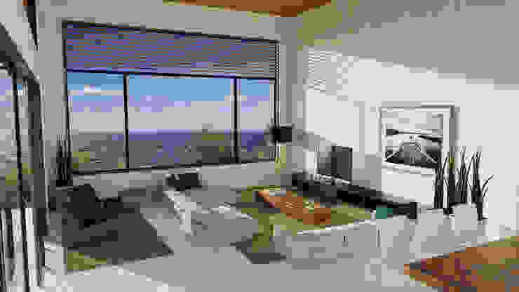 Casa Toninhas Salas de estar modernas por MM18 Arquitetura Moderno