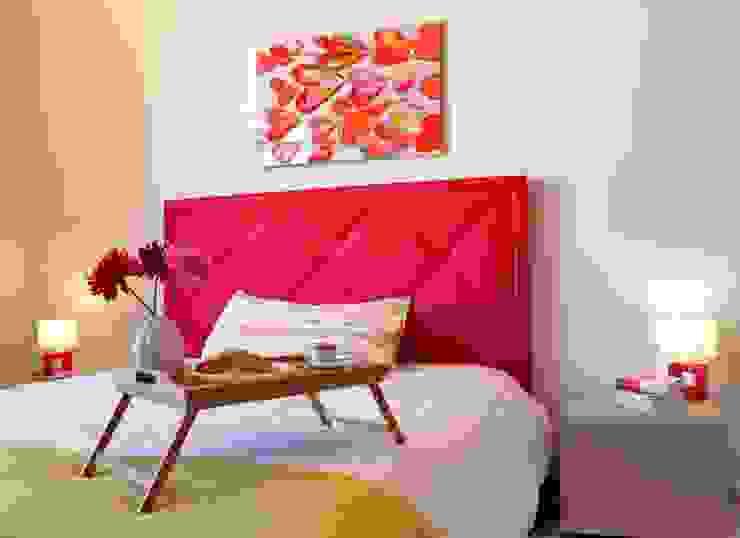 Camera da letto dopo l'intervento. di Gabriella Pontis