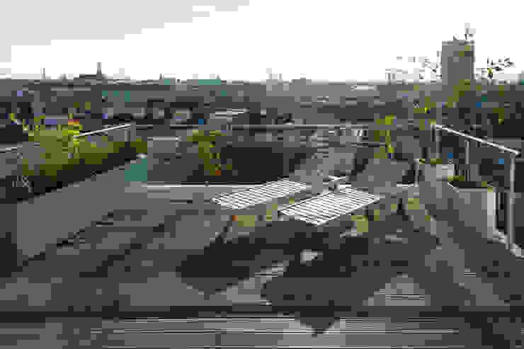 t-hoch-n Architektur Balkon, Beranda & Teras Gaya Mediteran