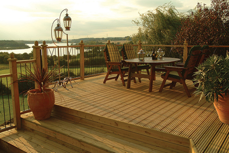 Decking project Scandinavian style garden by Atkinsons Fencing Ltd Scandinavian