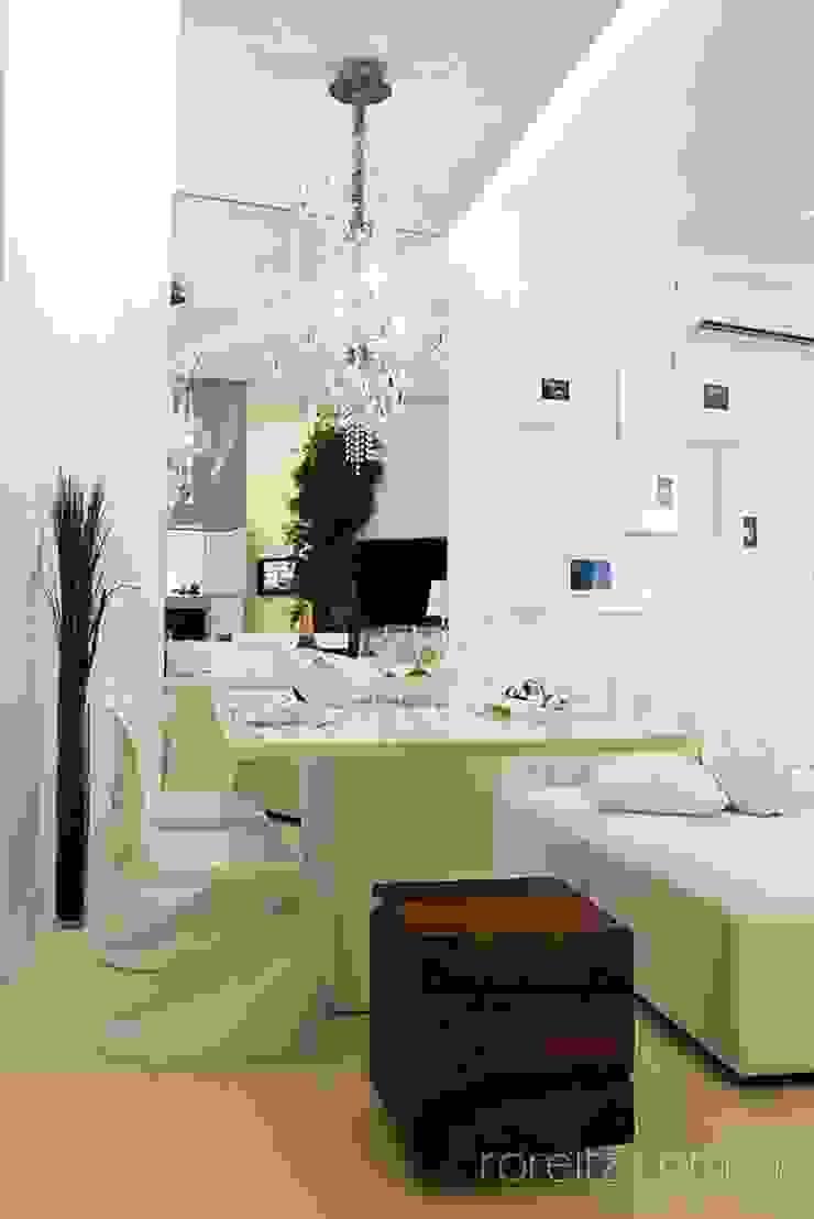 Sala de jantar do Loft do Futuro Salas de jantar minimalistas por Espaço do Traço arquitetura Minimalista
