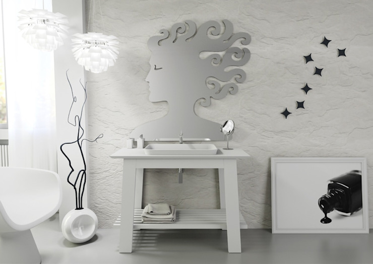 Bath Table 90; Musa Mirror; Stars di krayms A&D - Fa&Fra Moderno