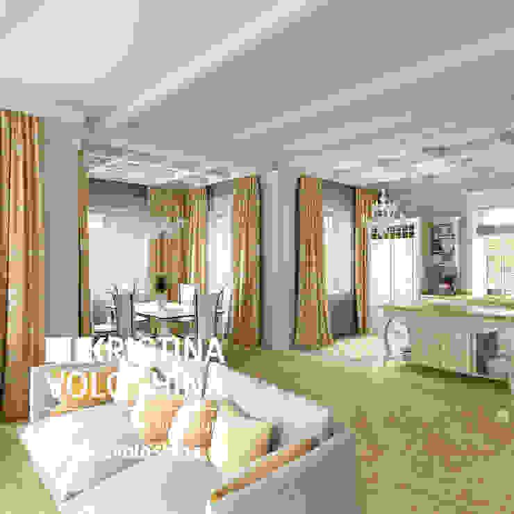 Дом на Рублёвском шоссе 345 м кв Гостиная в стиле модерн от kristinavoloshina Модерн