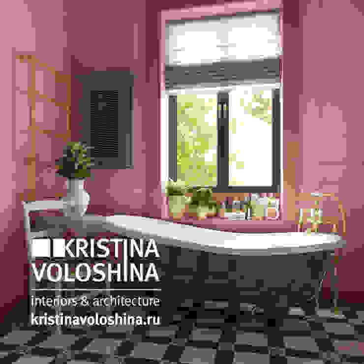 Дом на Рублёвском шоссе 345 м кв Ванная в средиземноморском стиле от kristinavoloshina Средиземноморский