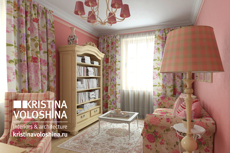 kristinavoloshina의  서재 & 사무실, 컨트리