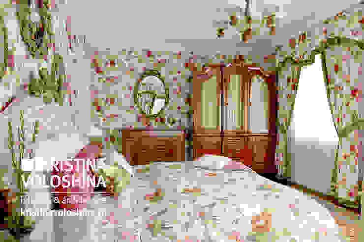 Дом на Рублёвском шоссе 345 м кв Спальня в стиле кантри от kristinavoloshina Кантри