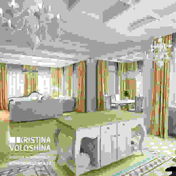 Дом на Рублёвском шоссе 345 м кв Гостиные в эклектичном стиле от kristinavoloshina Эклектичный
