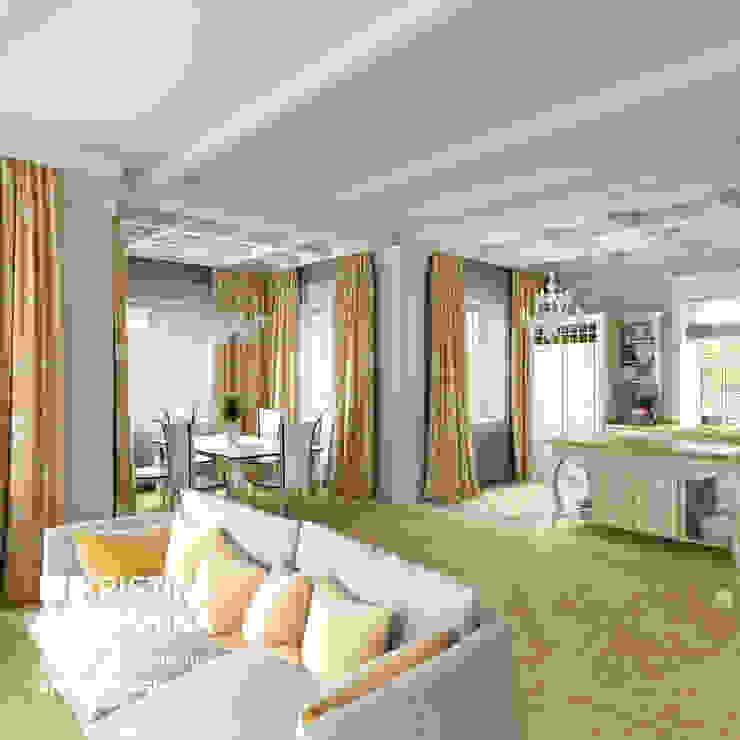 Дом на Рублёвском шоссе 345 м кв Гостиная в классическом стиле от kristinavoloshina Классический