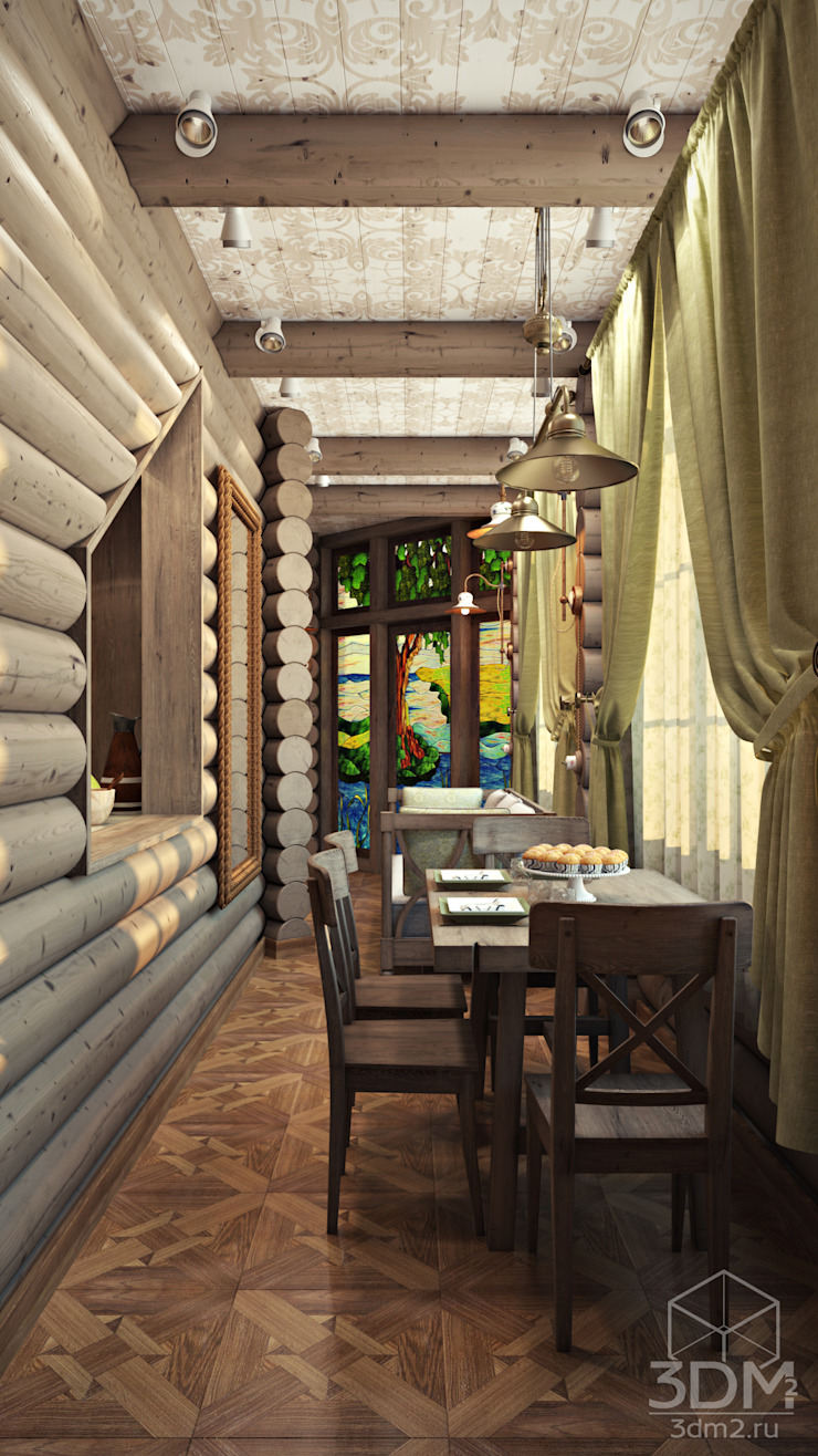 Country style dining room by студия визуализации и дизайна интерьера '3dm2' Country