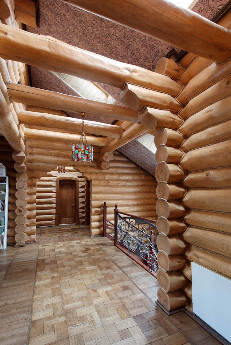 Country style corridor, hallway& stairs by Хандсвел Country