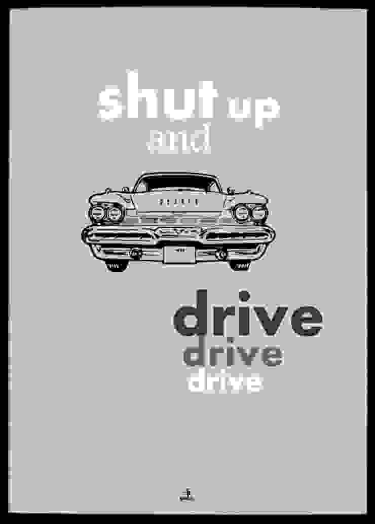SHUT UP AND DRIVE od MSP Sp. z o.o. Minimalistyczny