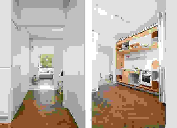 Apartment v01 Cocinas de estilo moderno de dontDIY Moderno