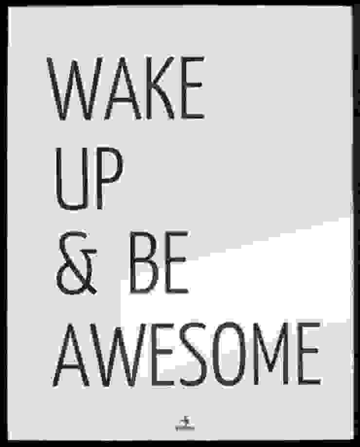 WAKE UP AND BE AWESOME od MSP Sp. z o.o. Minimalistyczny