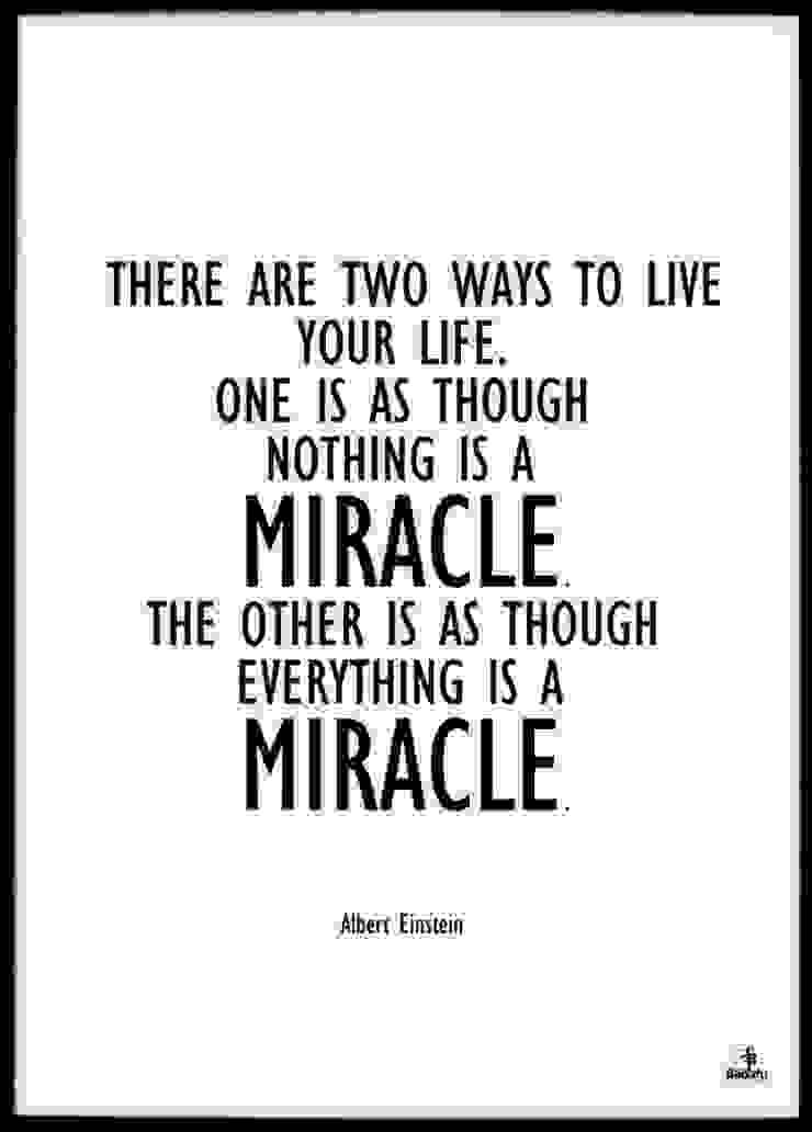 LIFE IS A MIRACLE od MSP Sp. z o.o. Minimalistyczny