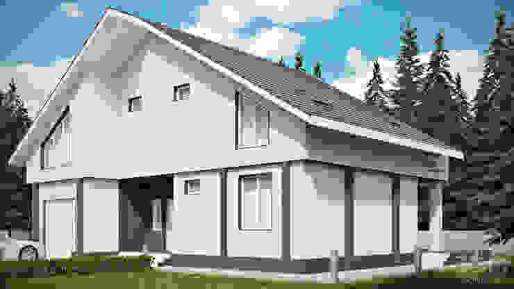 02 Дома в стиле минимализм от студия визуализации и дизайна интерьера '3dm2' Минимализм