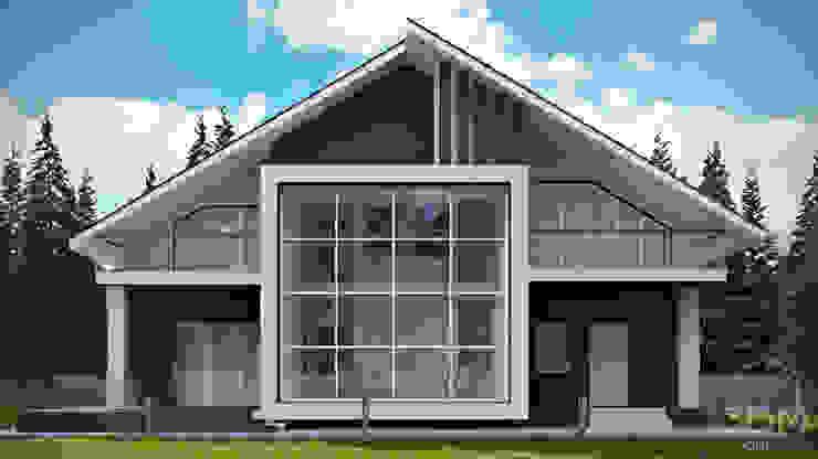 03 Дома в стиле минимализм от студия визуализации и дизайна интерьера '3dm2' Минимализм