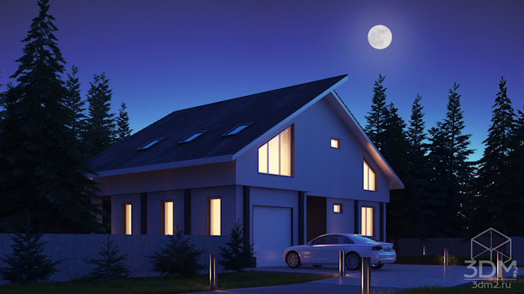 05 Дома в стиле минимализм от студия визуализации и дизайна интерьера '3dm2' Минимализм