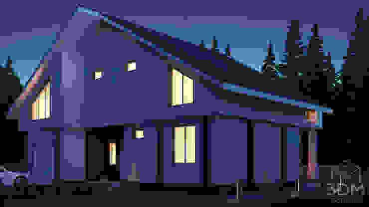 07 Дома в стиле минимализм от студия визуализации и дизайна интерьера '3dm2' Минимализм