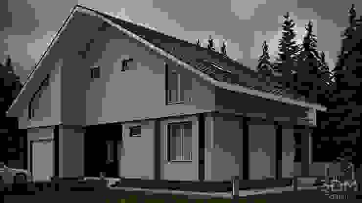 12 Дома в стиле минимализм от студия визуализации и дизайна интерьера '3dm2' Минимализм