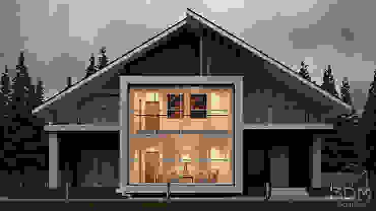 13 Дома в стиле минимализм от студия визуализации и дизайна интерьера '3dm2' Минимализм