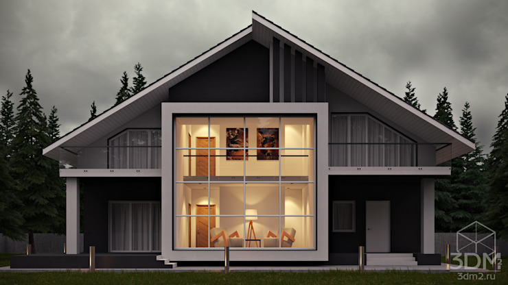 Minimalist house by студия визуализации и дизайна интерьера '3dm2' Minimalist