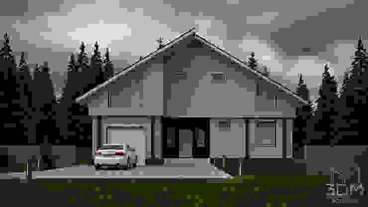14 Дома в стиле минимализм от студия визуализации и дизайна интерьера '3dm2' Минимализм