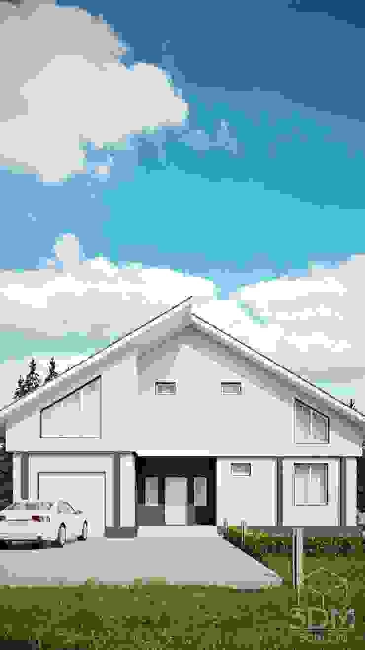 17 Дома в стиле минимализм от студия визуализации и дизайна интерьера '3dm2' Минимализм