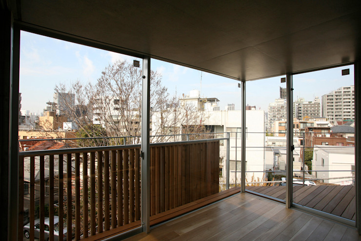 4階寝室 モダンスタイルの寝室 の 東章司建築研究所 モダン