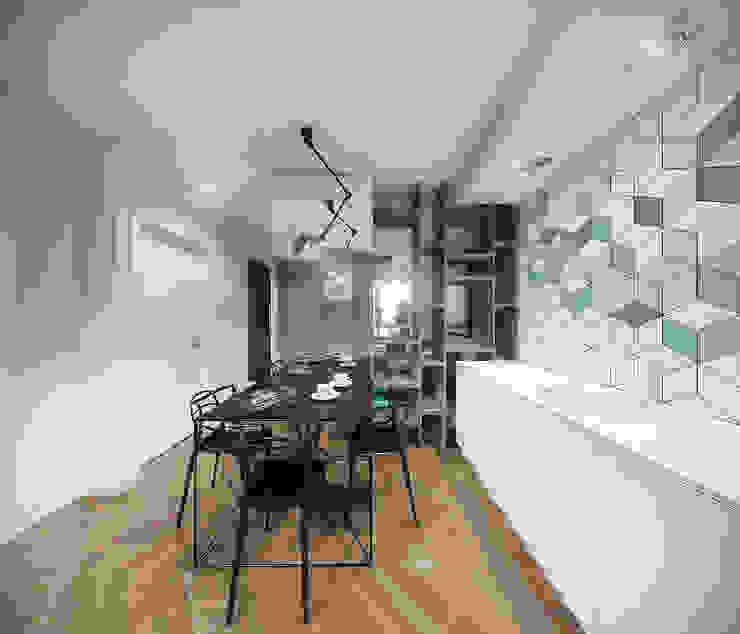 Cocinas de estilo moderno de HUK atelier Moderno