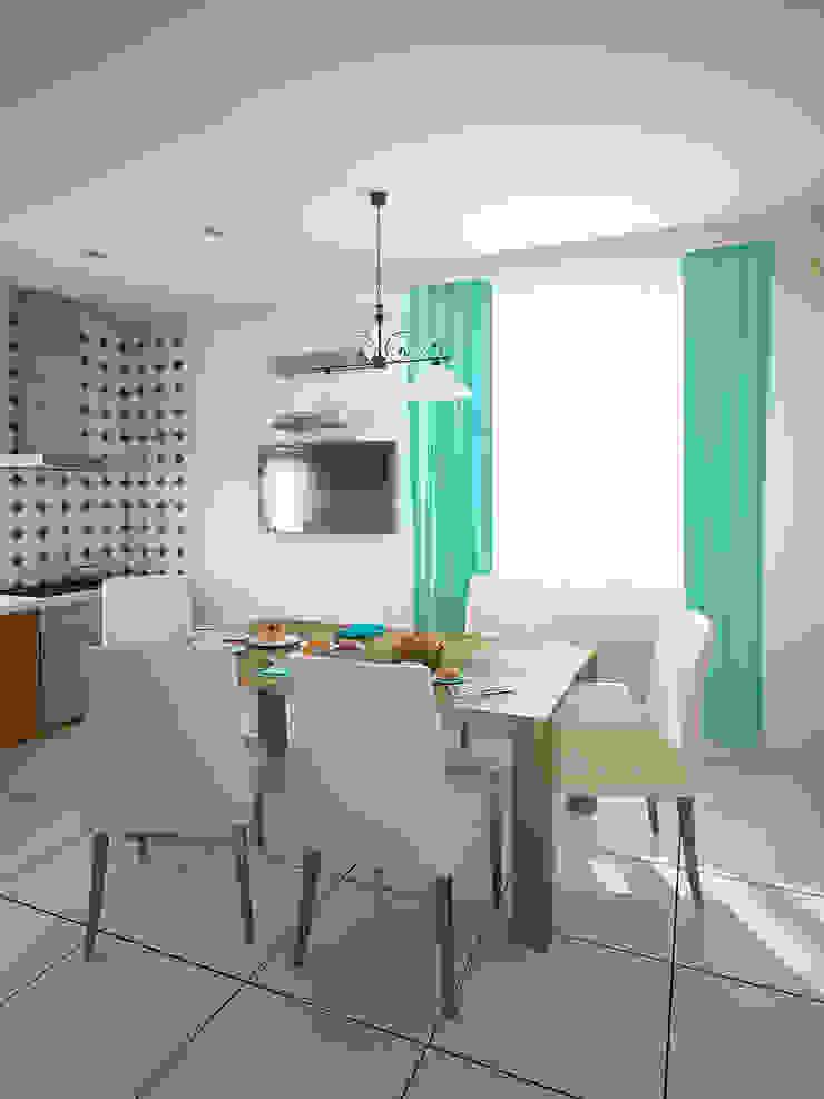 Семейный дом Кухни в эклектичном стиле от Дизайн студия Александра Скирды ВЕРСАЛЬПРОЕКТ Эклектичный