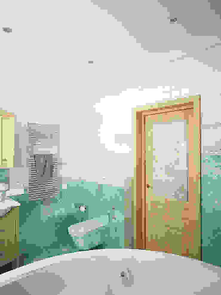 Семейный дом Ванная комната в эклектичном стиле от Дизайн студия Александра Скирды ВЕРСАЛЬПРОЕКТ Эклектичный