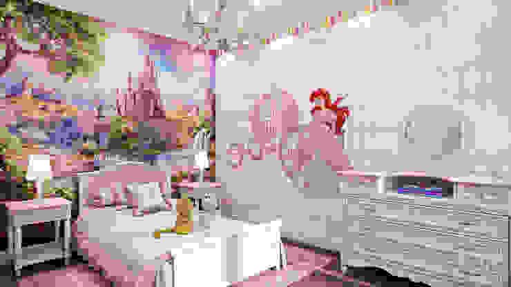 02: Детские комнаты в . Автор – студия визуализации и дизайна интерьера '3dm2', Минимализм