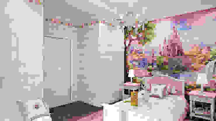 Dormitorios infantiles minimalistas de студия визуализации и дизайна интерьера '3dm2' Minimalista