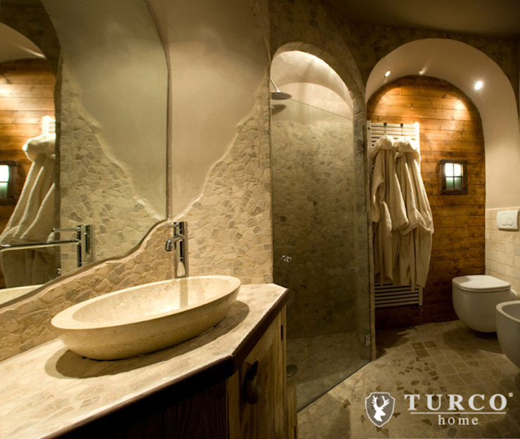 Rustic style bathrooms by turco home srl Rustic