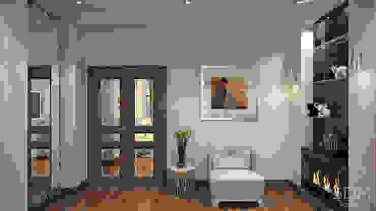 05 Гостиная в стиле минимализм от студия визуализации и дизайна интерьера '3dm2' Минимализм
