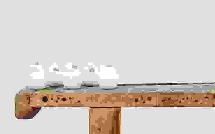 Part #4 - Vase white van Fou de Feu Scandinavisch